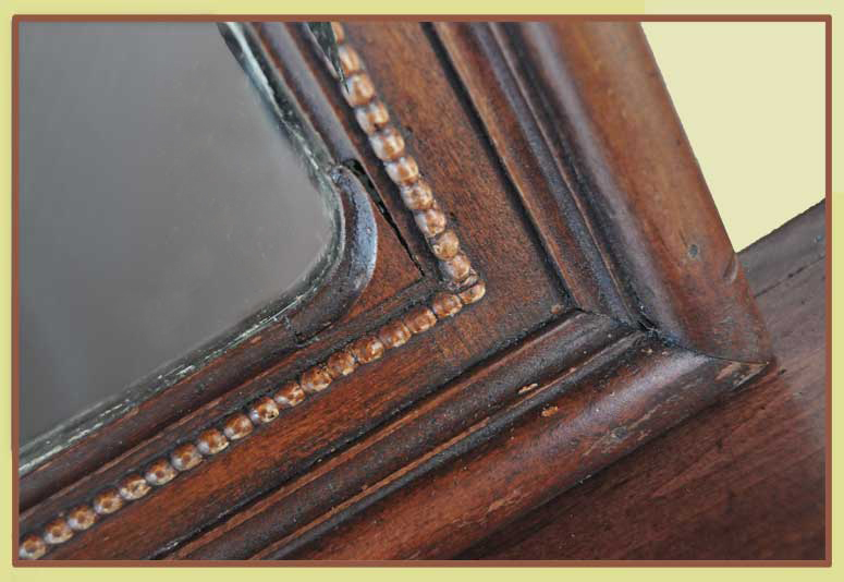 French Walnut Full Mantel, with Large Back Mirror