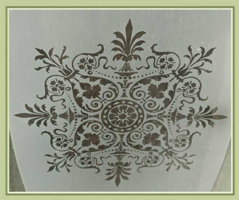 Windows with Floral Etchings