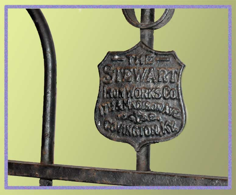 Vintage Iron Gate, with Scrolls & Spindle Points