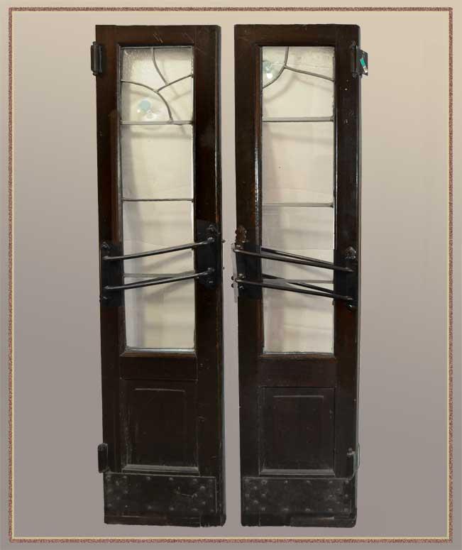 "Pair of Saloon Doors from Historical Cincinnati Restaurant ""Wiggins"""