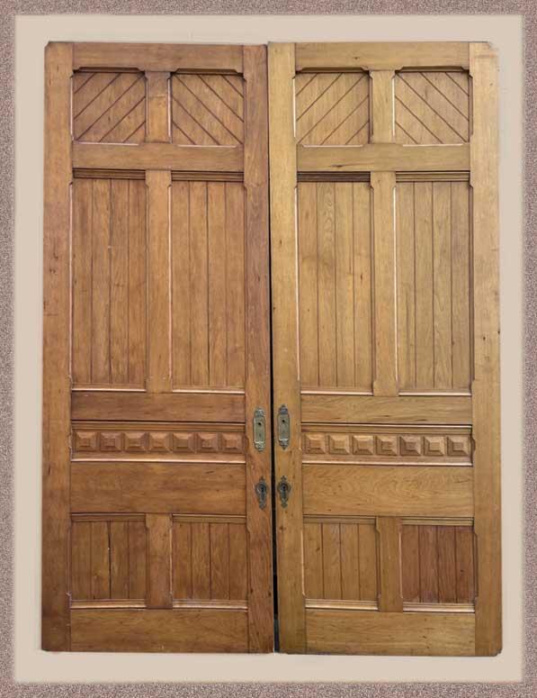 Nice Pair of Eastlake Carved Pocket Doors, Circa 1880