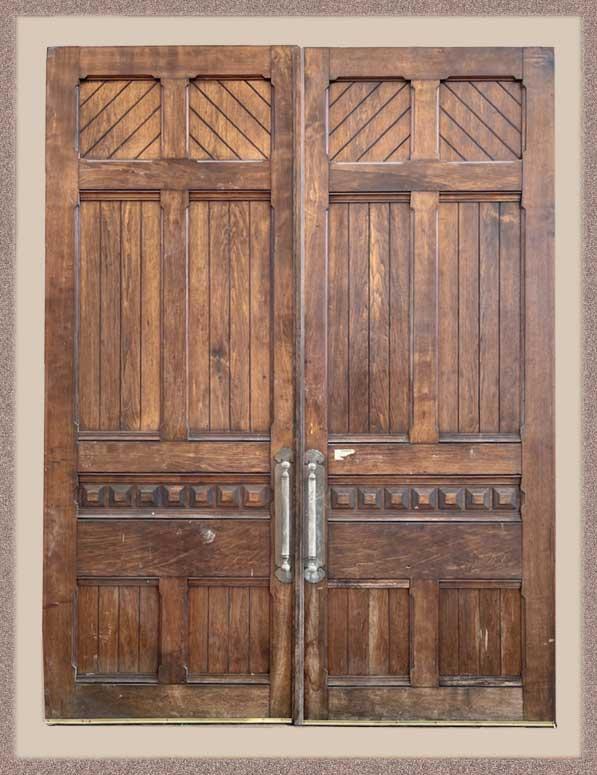 Vintage Pair of 1880 Eastlake Carved Pocket Doors