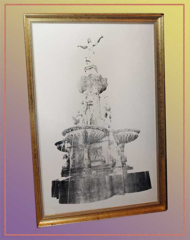 Framed Print of Historical Cincinnati Tyler-Davidson Fountain