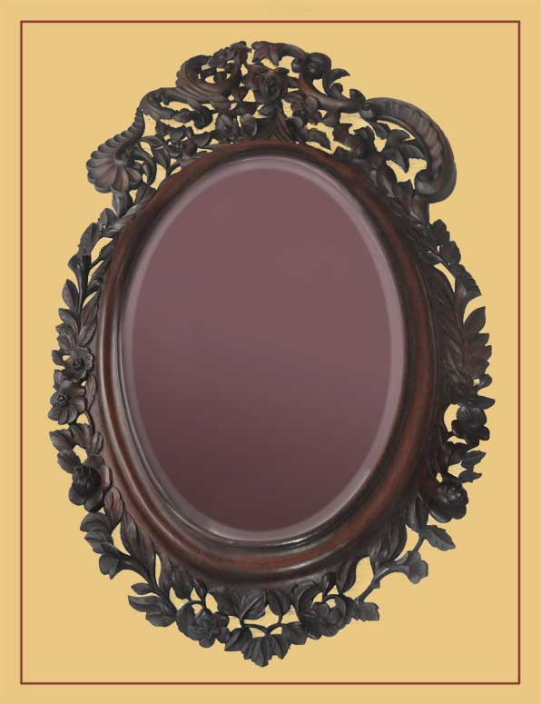 Nice Victorian Mirror, in Ornate Frame