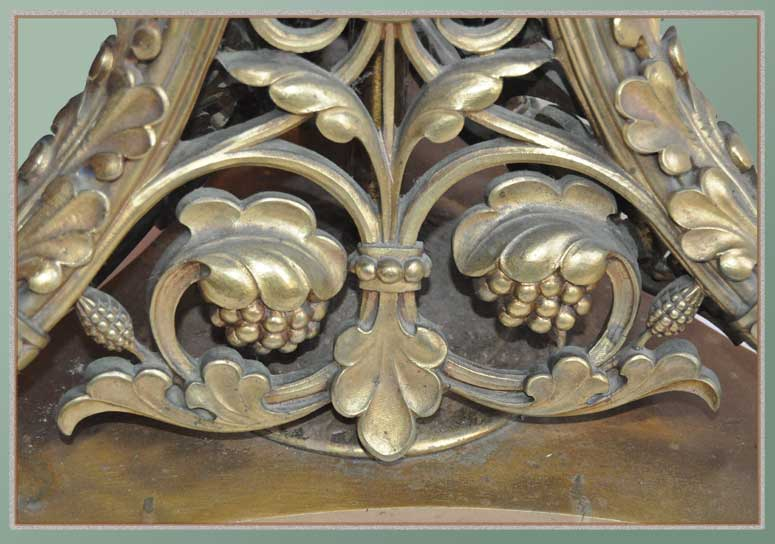 Floral Base in Cast Bronze