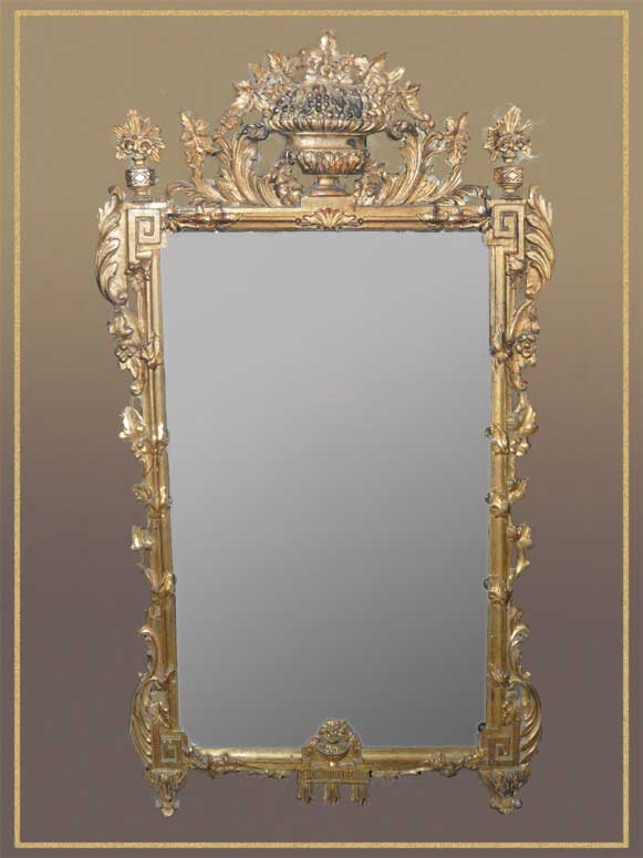 Ornate Large Gold Mirror