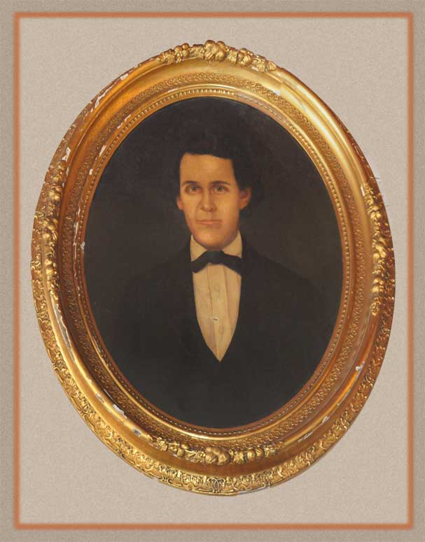 Framed Historical Oil Portrait