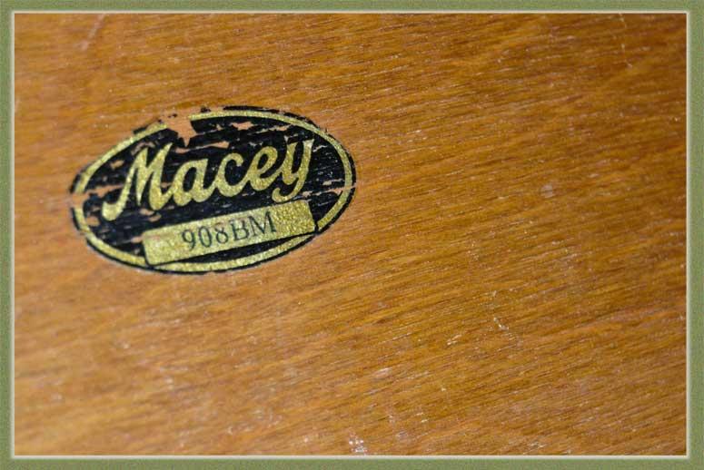 Three-Tier Macey Mahogany Bookcase