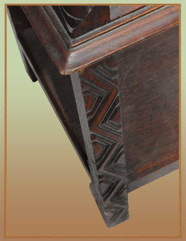 Carved Gothic Two-Door Cabinet