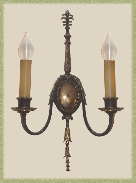 Two-Armed Gothic Tudor Sconces