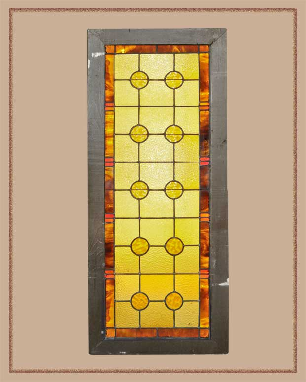 Versatile Stained Glass Window, with Geometrical Patterns