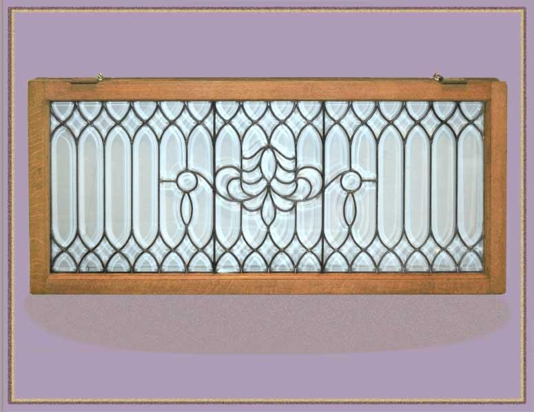 Nice Transom Window, with Beveled Glass