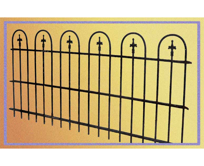 """Extensive Set of """"Loop & Spear"""" Iron Fencing"""