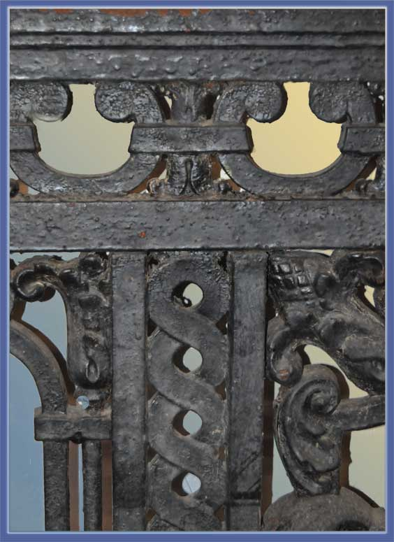 Salvaged Pair of Cast-Iron Balcony Frames