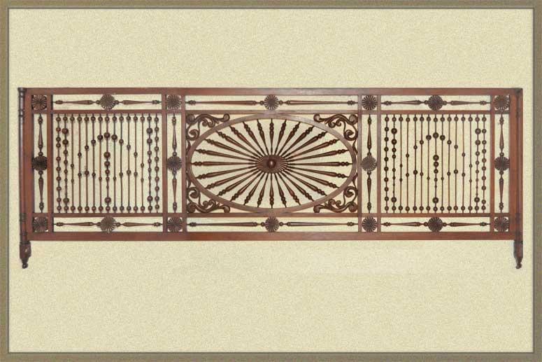 Vintage Oak Fretwork Panel