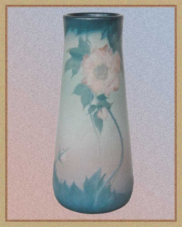 Calming Painted and Fired Rookwood Vase