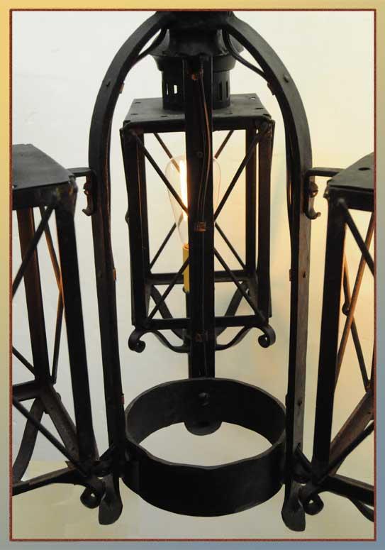 Three-Armed Cast-Iron Light