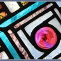 Stained Glass Window with Painted & Fired Panes