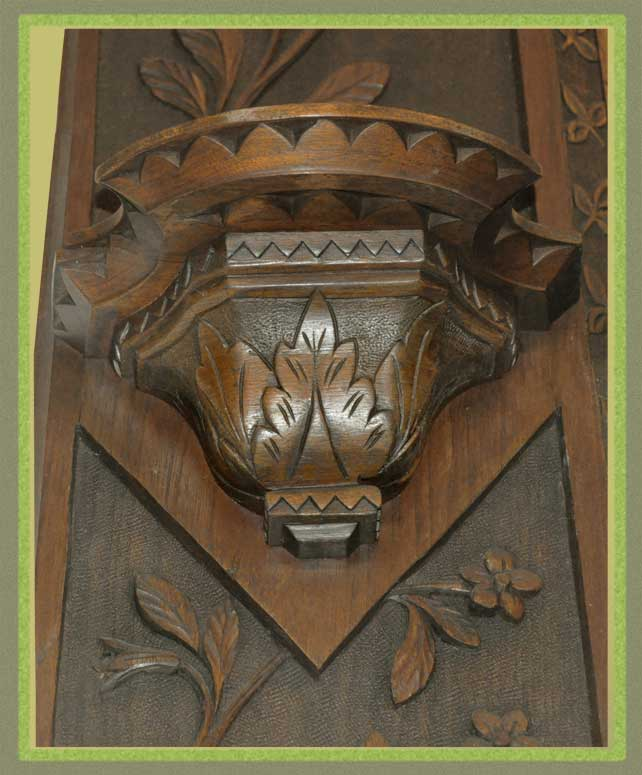 Large Cincinnati Art Carved Mirror, with Crown & Side Shelves
