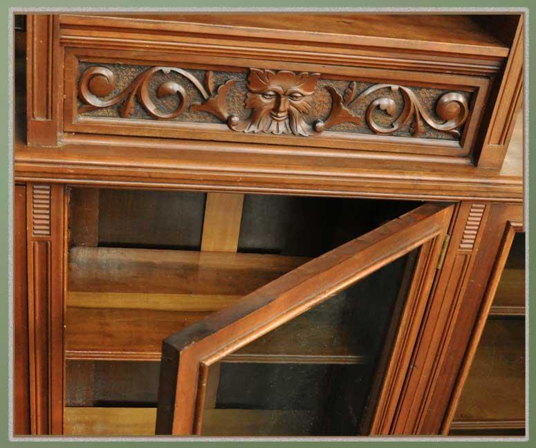 Vintage Three-Door Mahogany China/Curio Cabinet