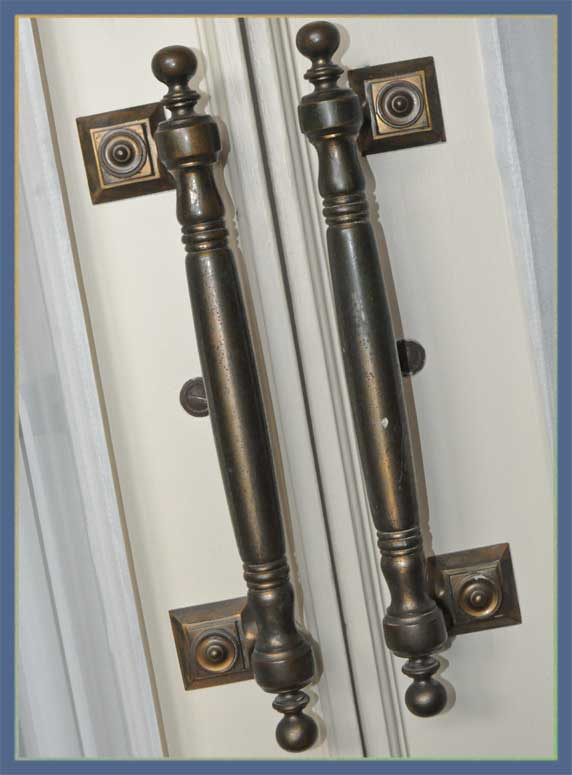 Classic French Entry Door Set, with Fancy Hardware
