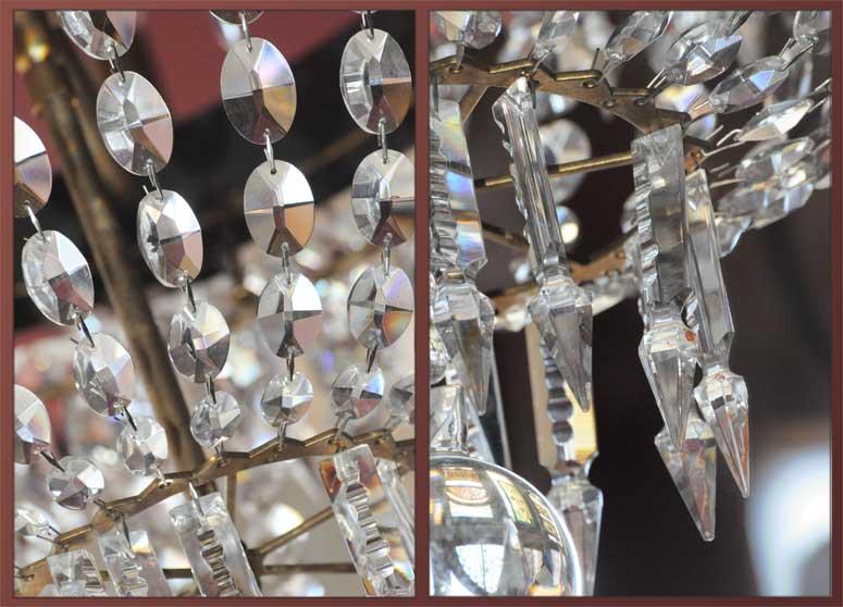 Vintage Eight-Arm Crystal Chandelier