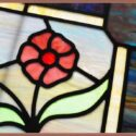 """Colorful, Small Window, with """"1301"""" Address & Floral Art"""