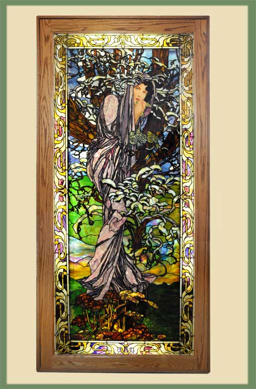 "Stunning Life-Size ""Lady"" Window, by Bogenrief Glass Studios"