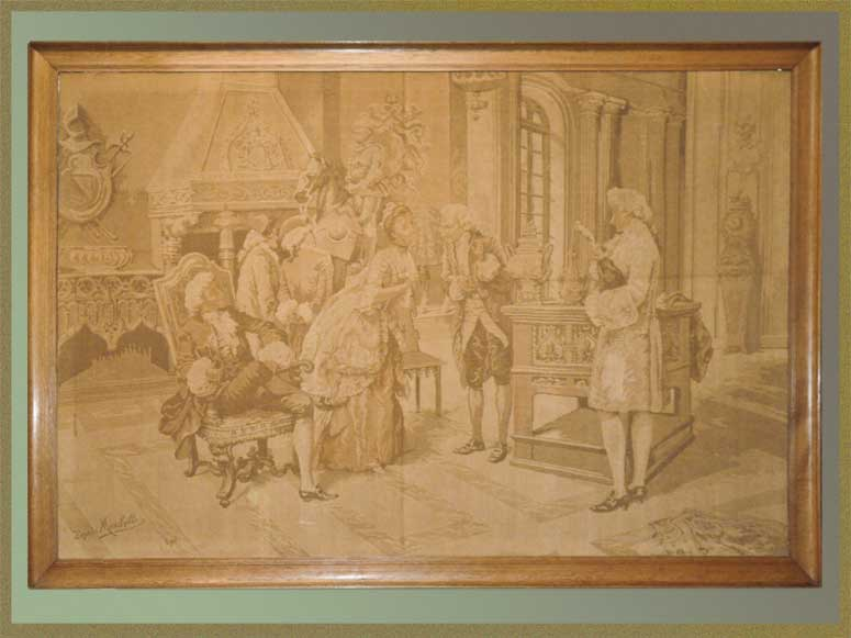 Historical French Tapestry, Signed by Artist