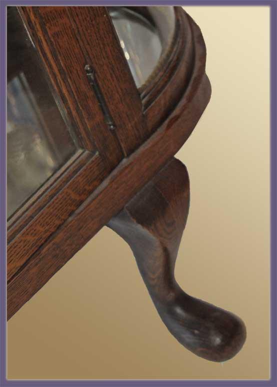 """Original """"R.J. Horner"""" Oak China Cabinet"""