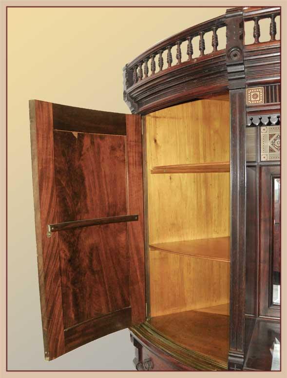 Very Nice 1880s Mahogany Corner Cabinet