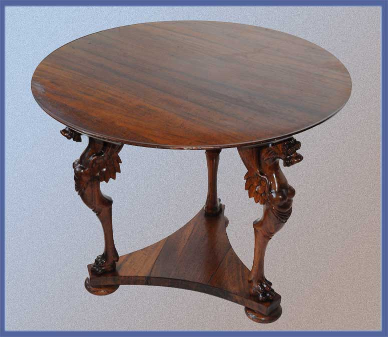Small, Three-Legged Griffin Table