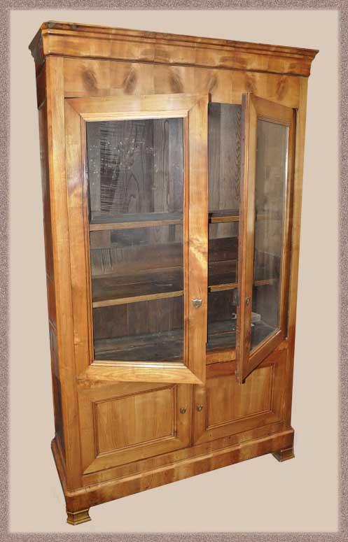 Substantial Two-Door Bibliotheque Cabinet