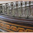 Semi-Round Vitrine, with Inlays & Brass Galley Rail