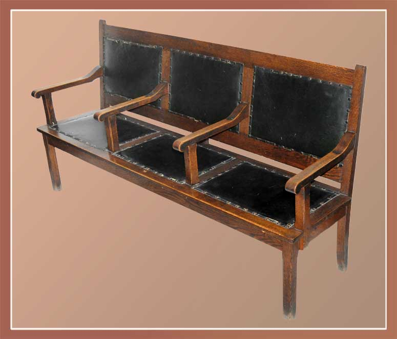 Upholstered Three-Seat Bench
