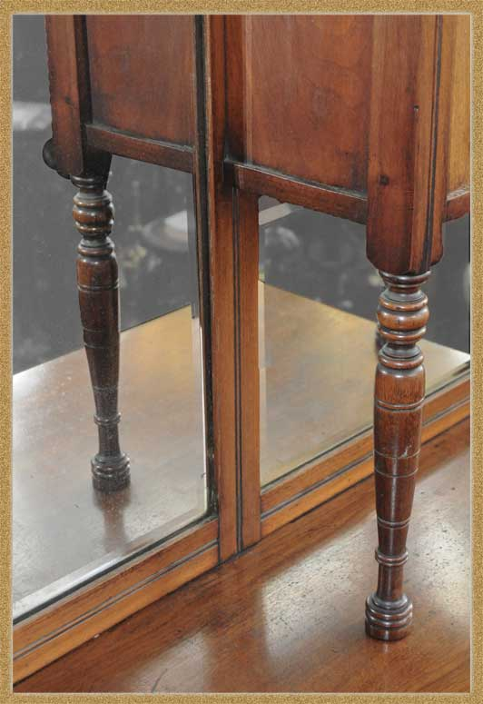 Glorious English Aesthetic Sideboard, with Curio Top