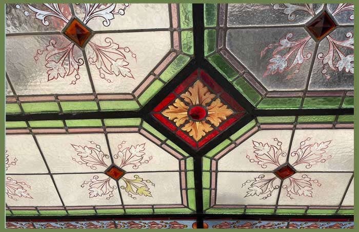 Large Stained Glass Ceiling Panel