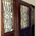 Oak & Beveled Glass Entrance