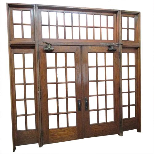 Oak French Door Entrance