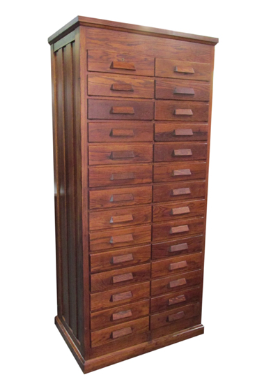 Tall Oak File Cabinet Wooden Nickel Antiques