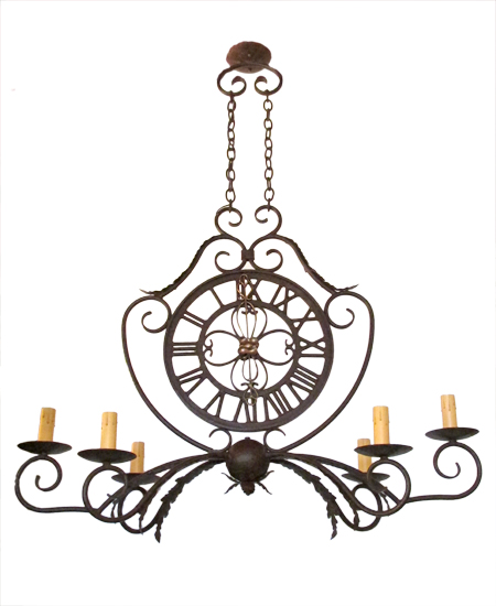 French Six-Arm Light Fixture